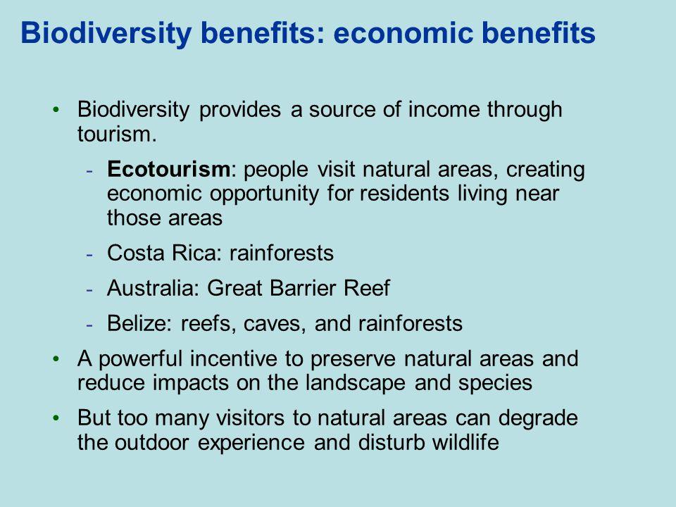 Biodiversity benefits: economic benefits