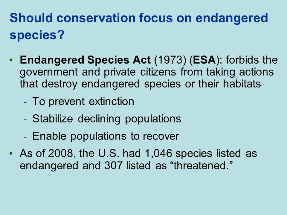 Should conservation focus on endangered species