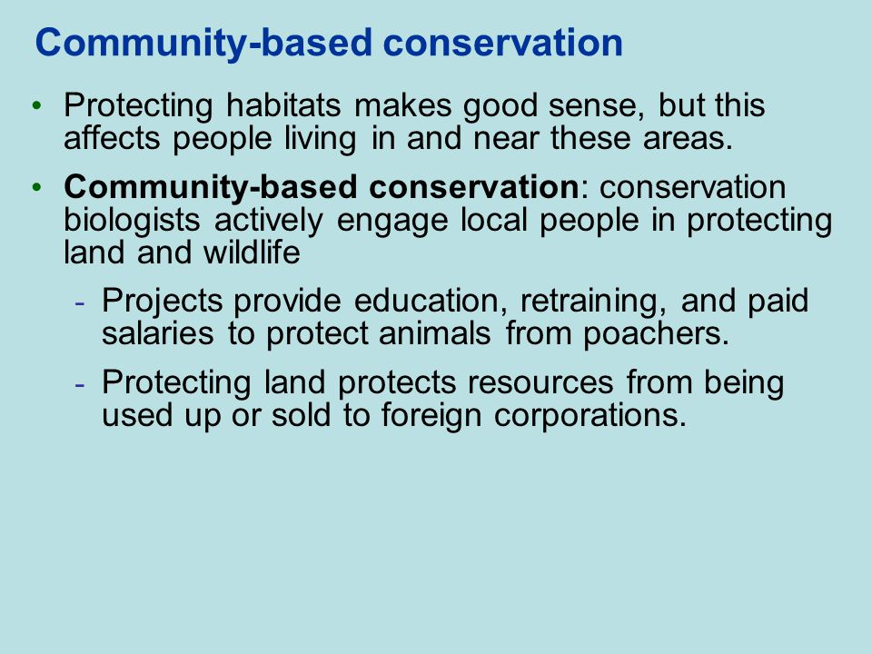 Community-based conservation