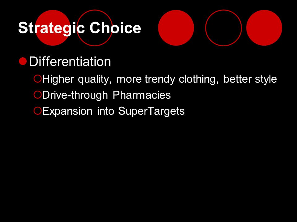Strategic Choice Differentiation