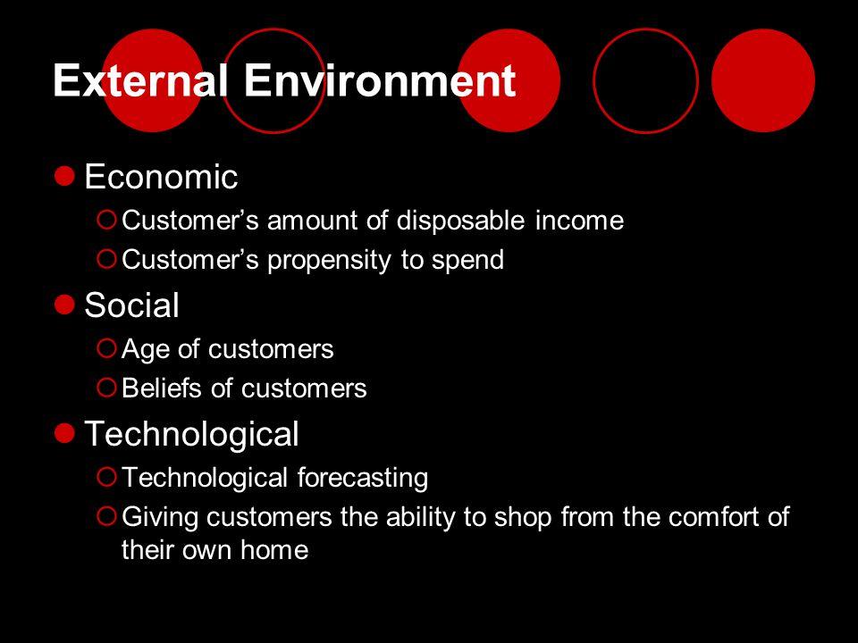 External Environment Economic Social Technological