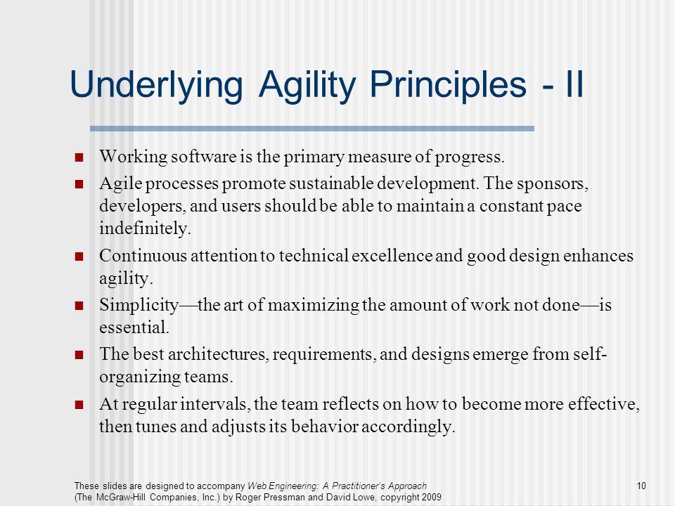 Underlying Agility Principles - II