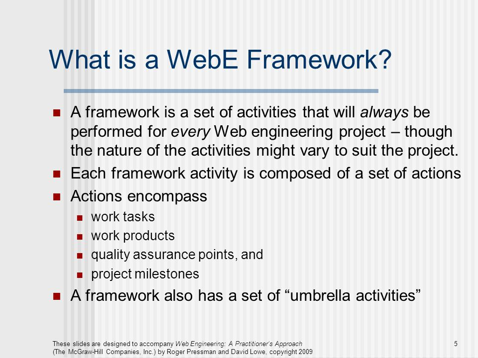 What is a WebE Framework