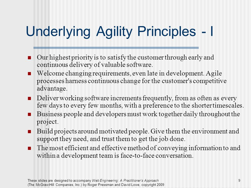 Underlying Agility Principles - I