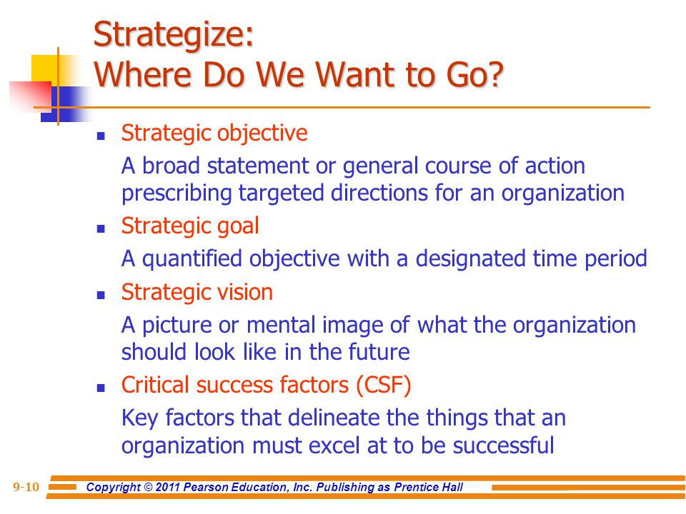 Strategize: Where Do We Want to Go