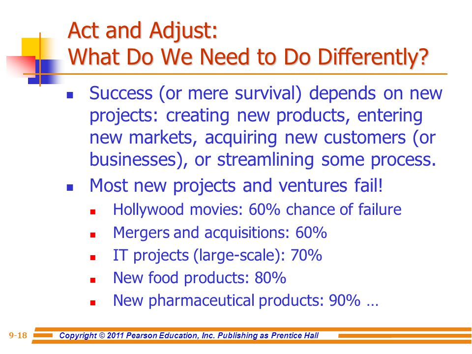 Act and Adjust: What Do We Need to Do Differently
