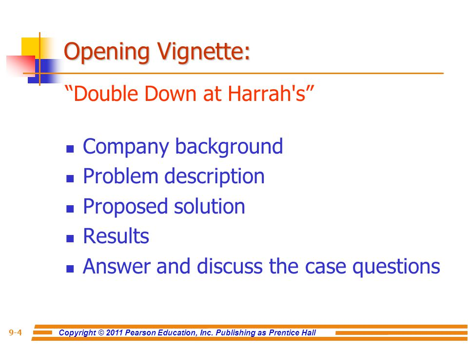 Opening Vignette: Double Down at Harrah s Company background