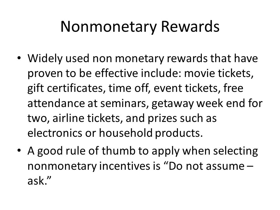 Nonmonetary Rewards