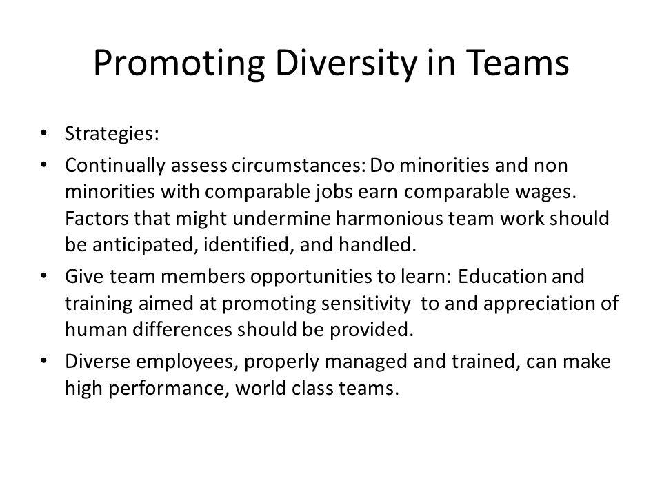 Promoting Diversity in Teams