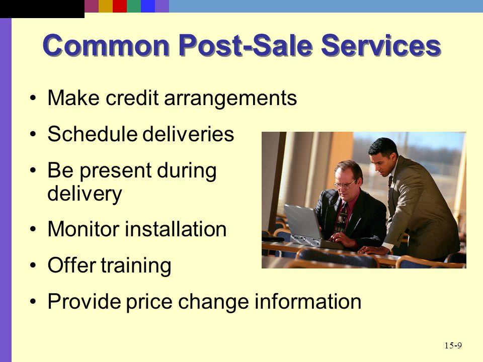 Common Post-Sale Services