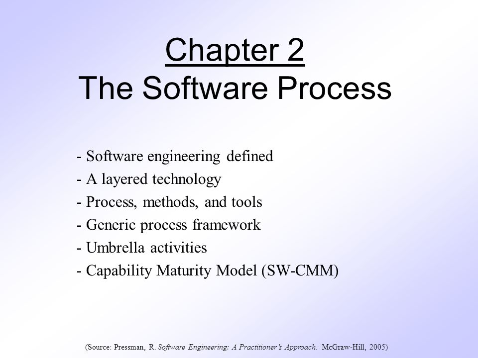 Chapter 2 The Software Process