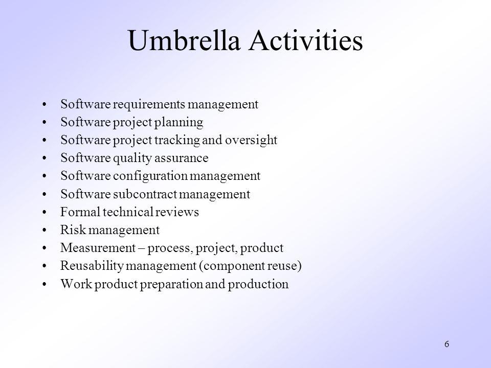 Umbrella Activities Software requirements management