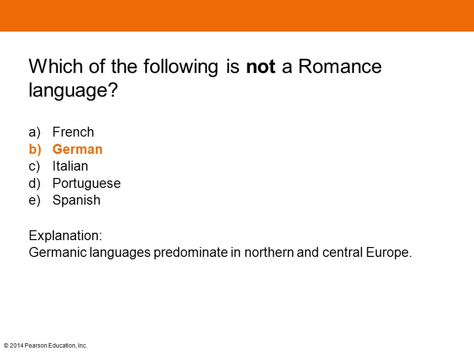Which of the following is not a Romance language