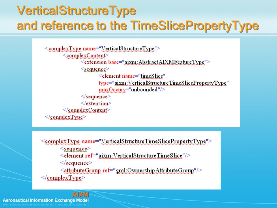 VerticalStructureType and reference to the TimeSlicePropertyType
