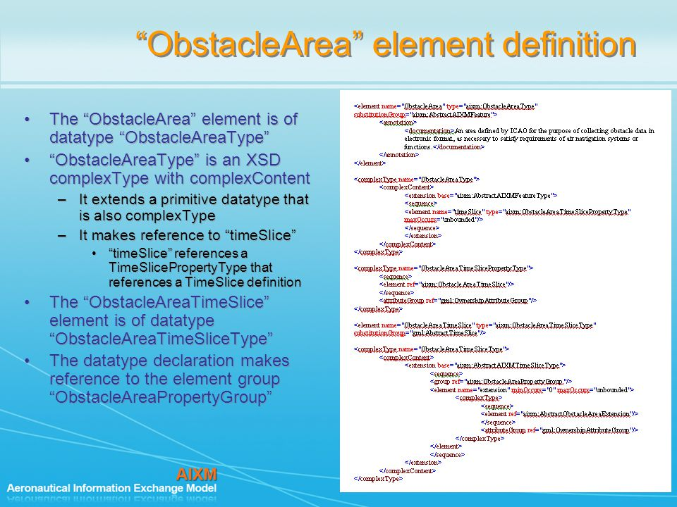 ObstacleArea element definition