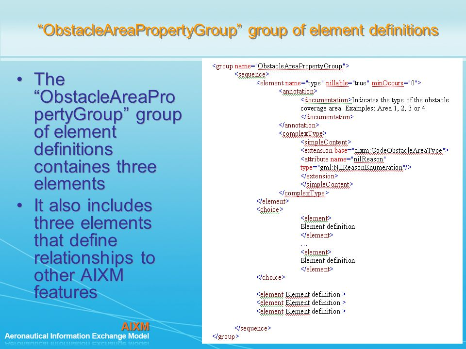 ObstacleAreaPropertyGroup group of element definitions