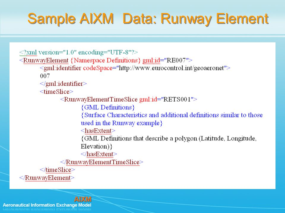 Sample AIXM Data: Runway Element