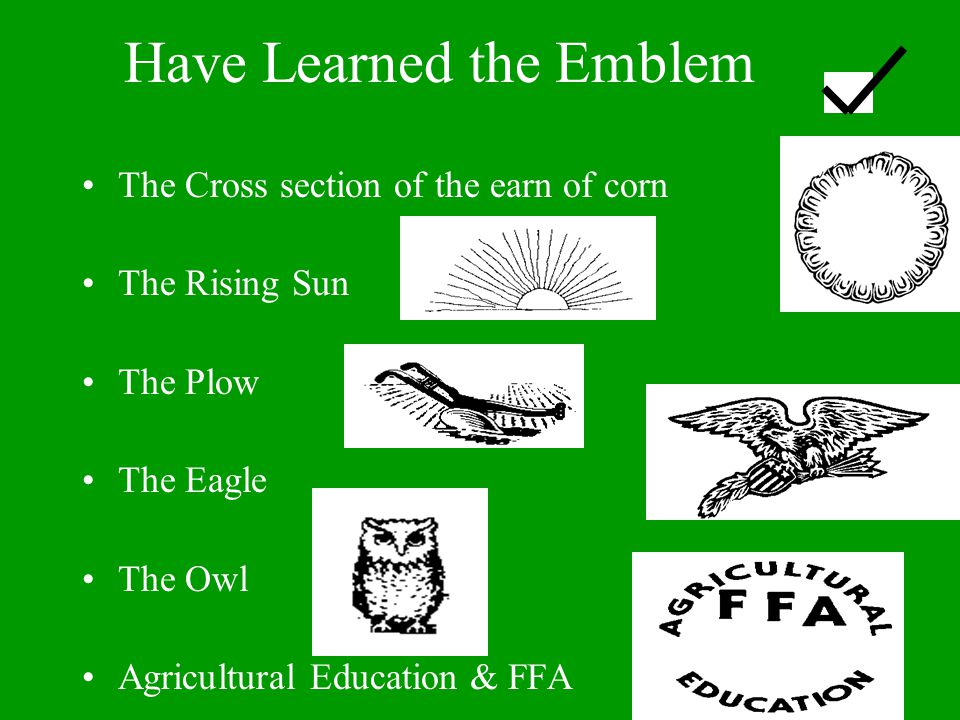 Have Learned the Emblem