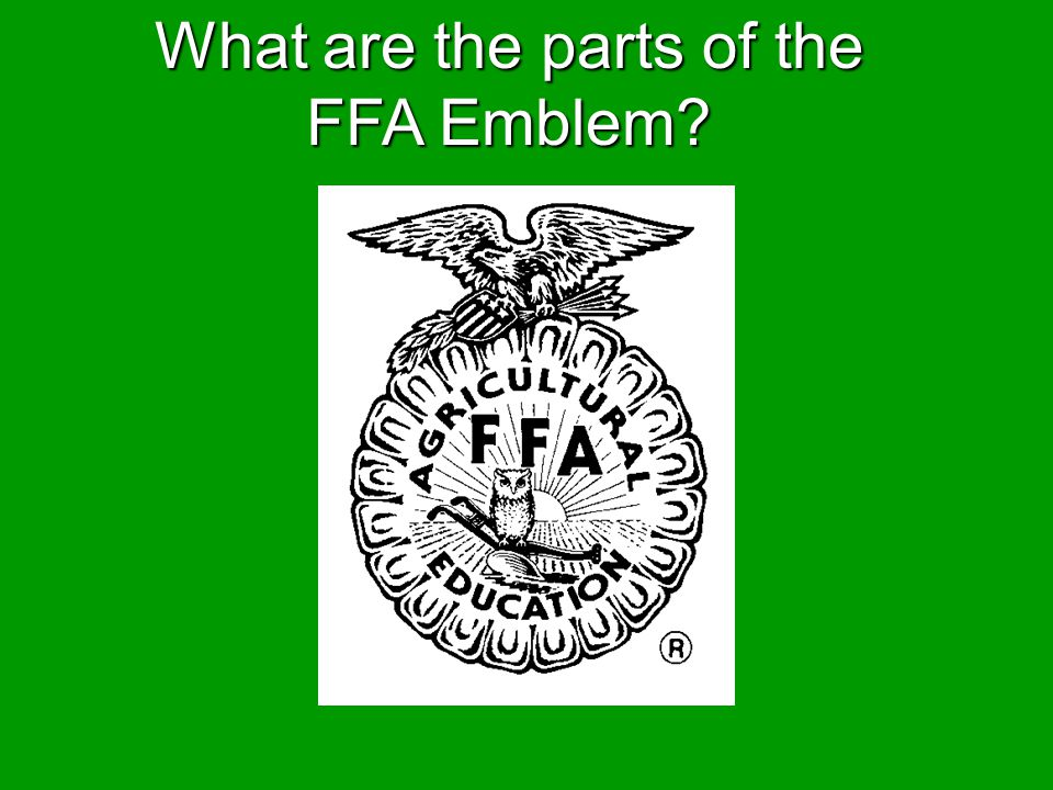 What are the parts of the FFA Emblem