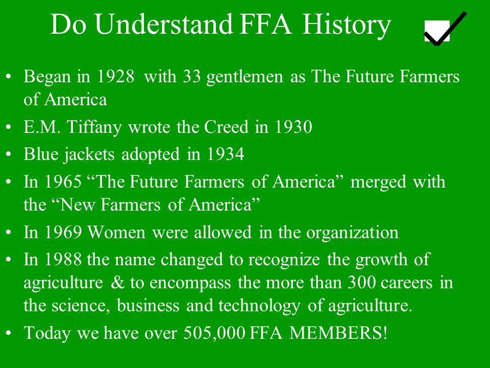 Do Understand FFA History