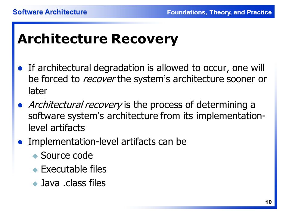 Architecture Recovery
