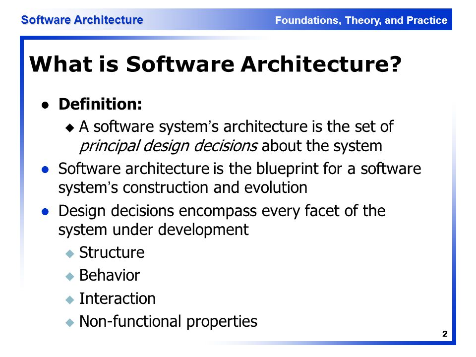 What is Software Architecture
