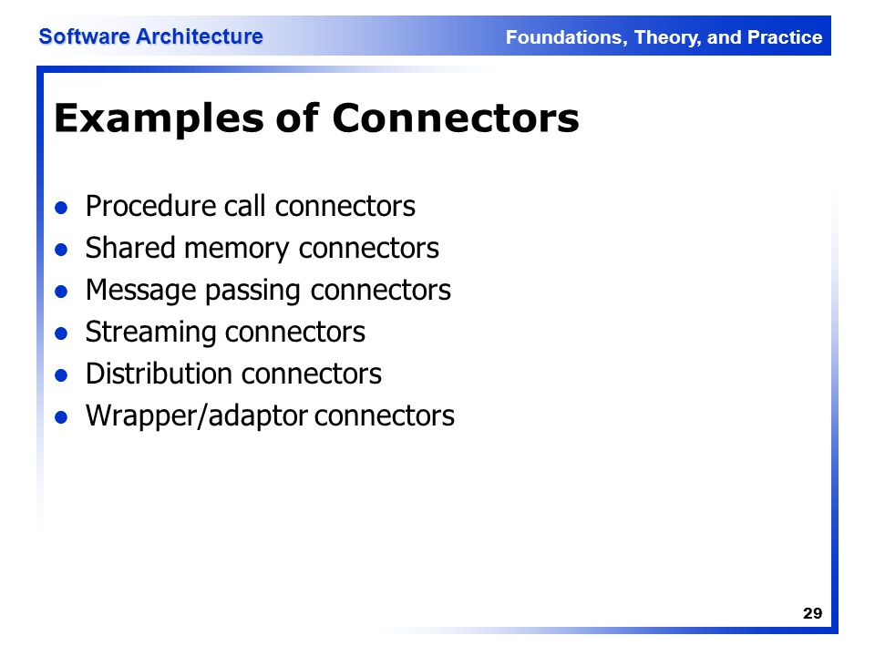 Examples of Connectors