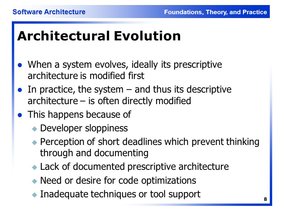 Architectural Evolution