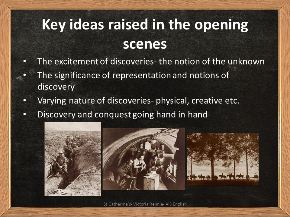 Key ideas raised in the opening scenes