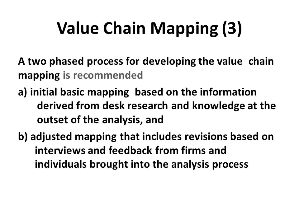 Value Chain Mapping (3)