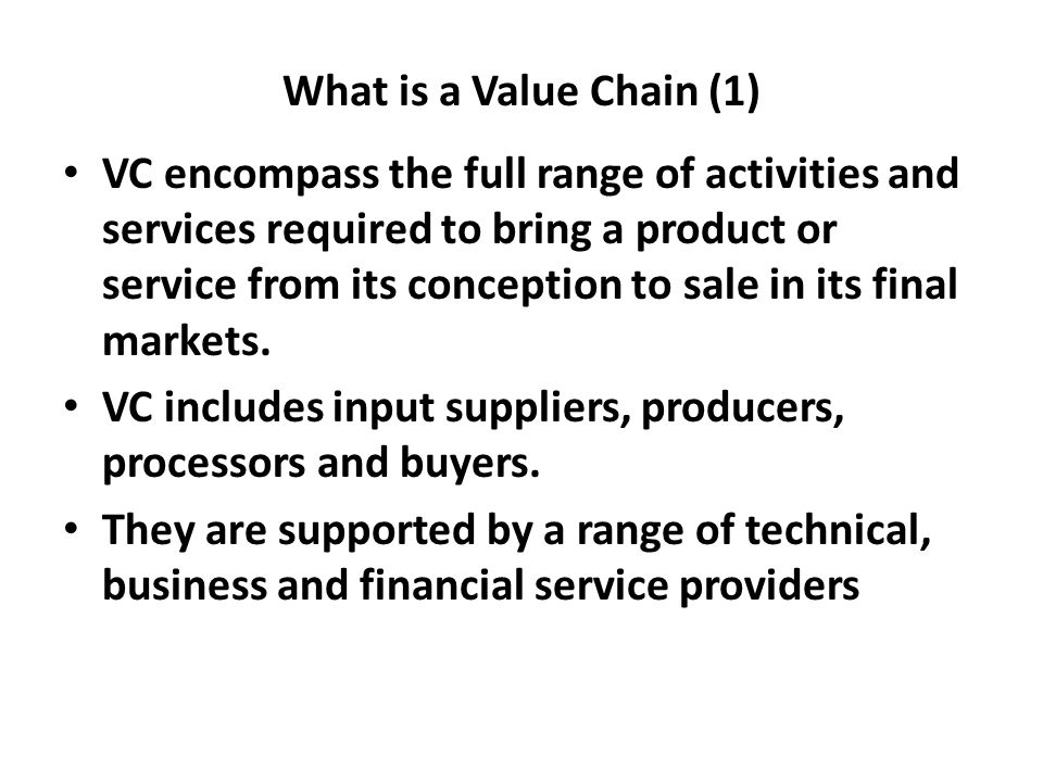 What is a Value Chain (1)