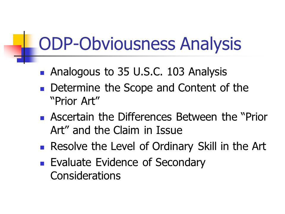 ODP-Obviousness Analysis