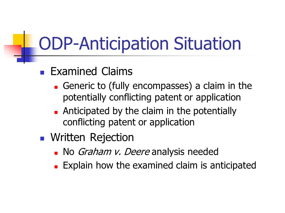 ODP-Anticipation Situation