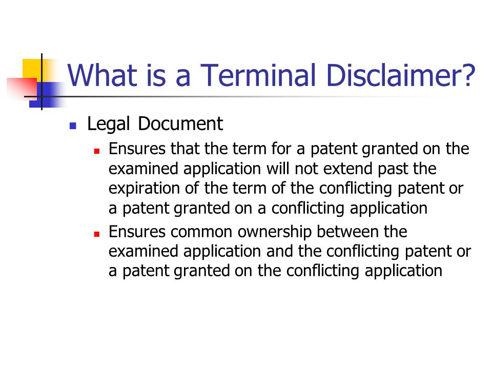 What is a Terminal Disclaimer