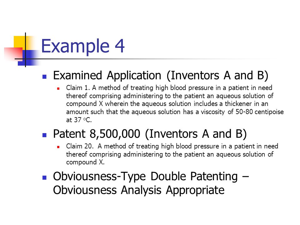 Example 4 Examined Application (Inventors A and B)