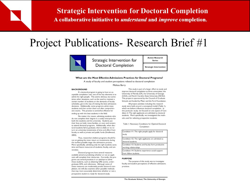 Project Publications- Research Brief #1