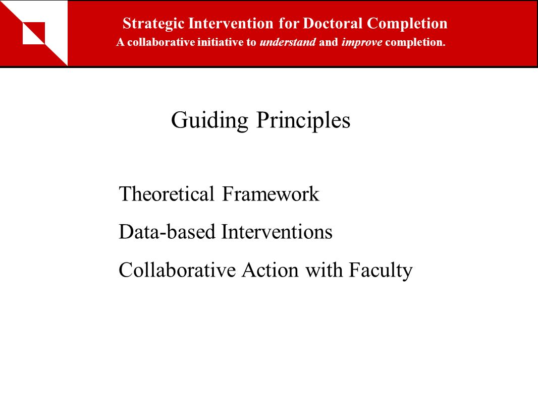Guiding Principles Theoretical Framework Data-based Interventions