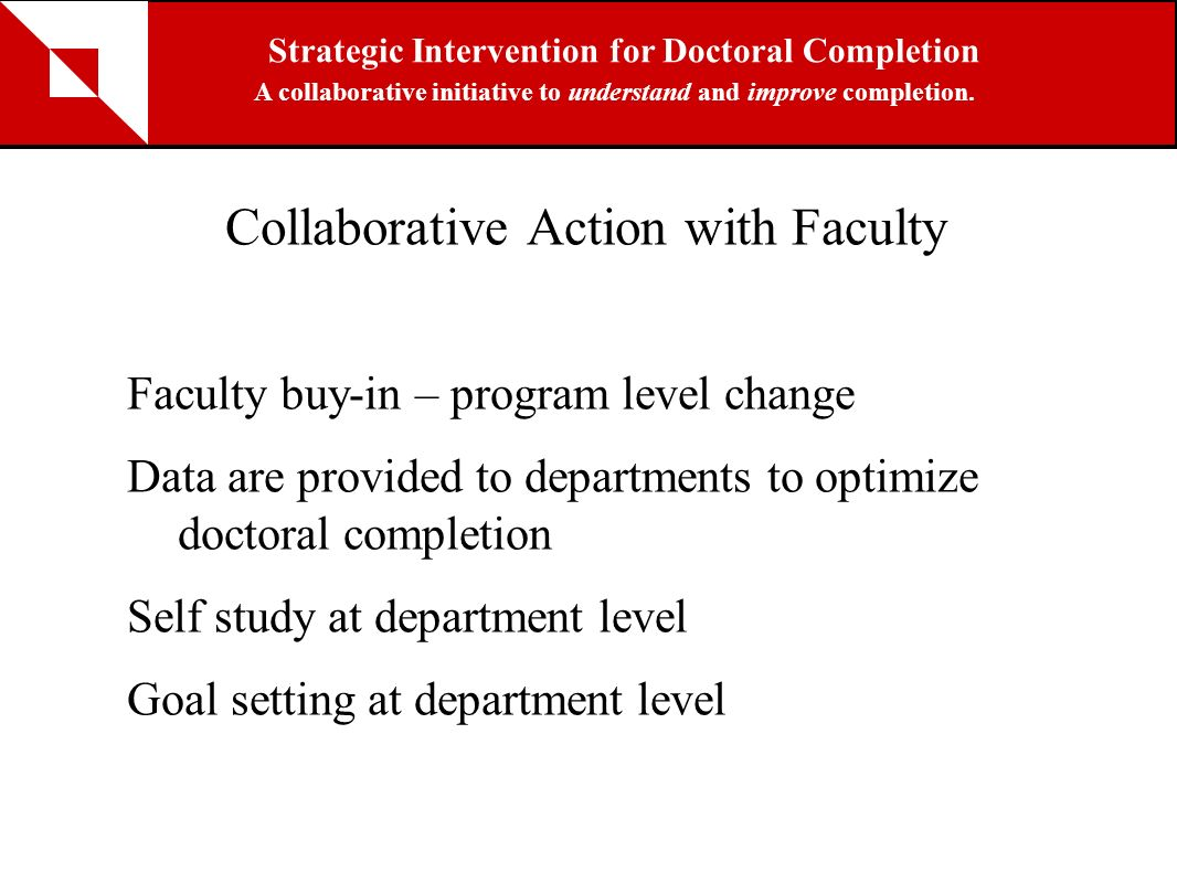 Collaborative Action with Faculty