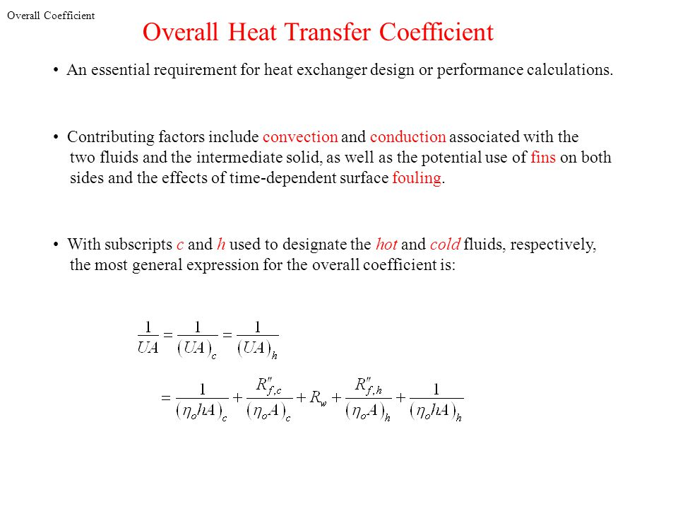 Overall Heat Transfer Coefficient
