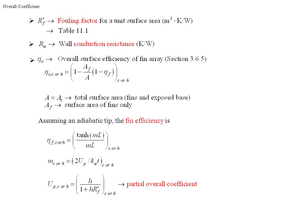 Assuming an adiabatic tip, the fin efficiency is