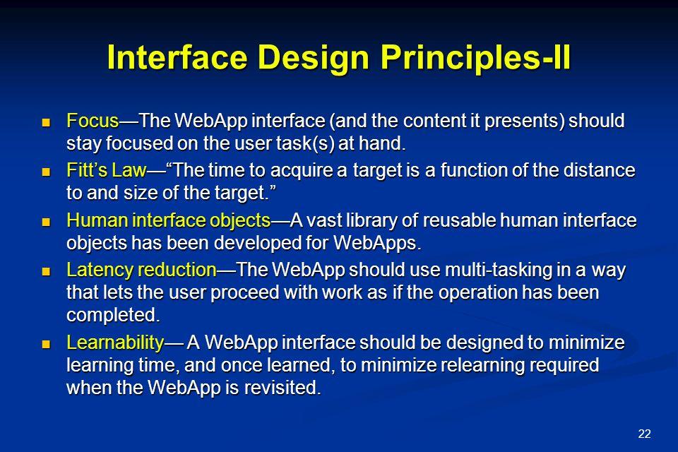 Interface Design Principles-II