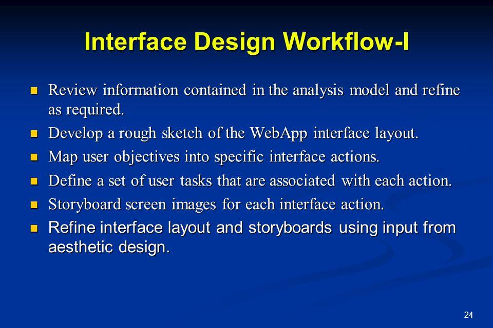 Interface Design Workflow-I