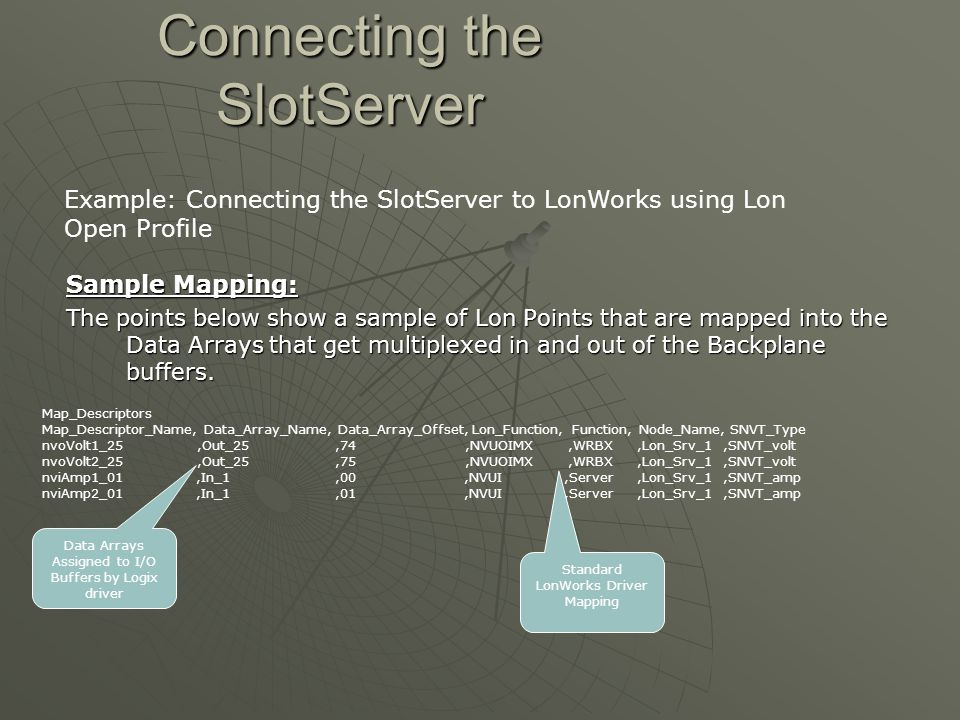 Connecting the SlotServer