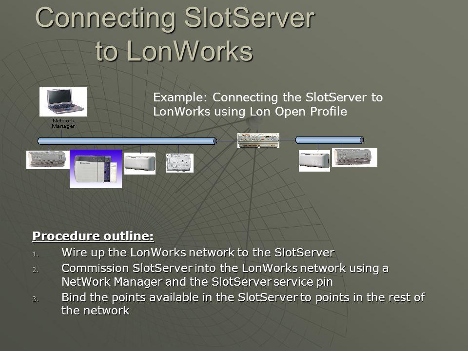 Connecting SlotServer to LonWorks