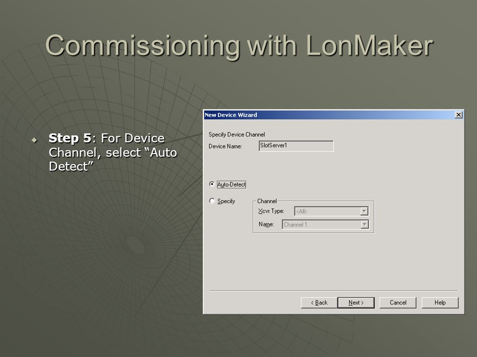 Commissioning with LonMaker
