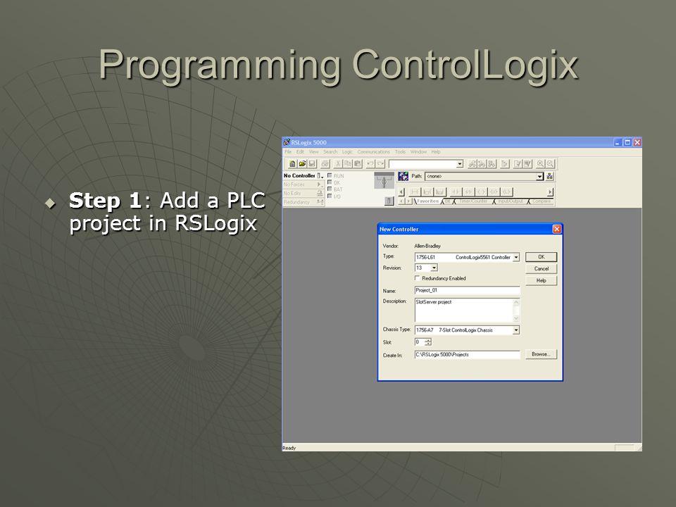 Programming ControlLogix