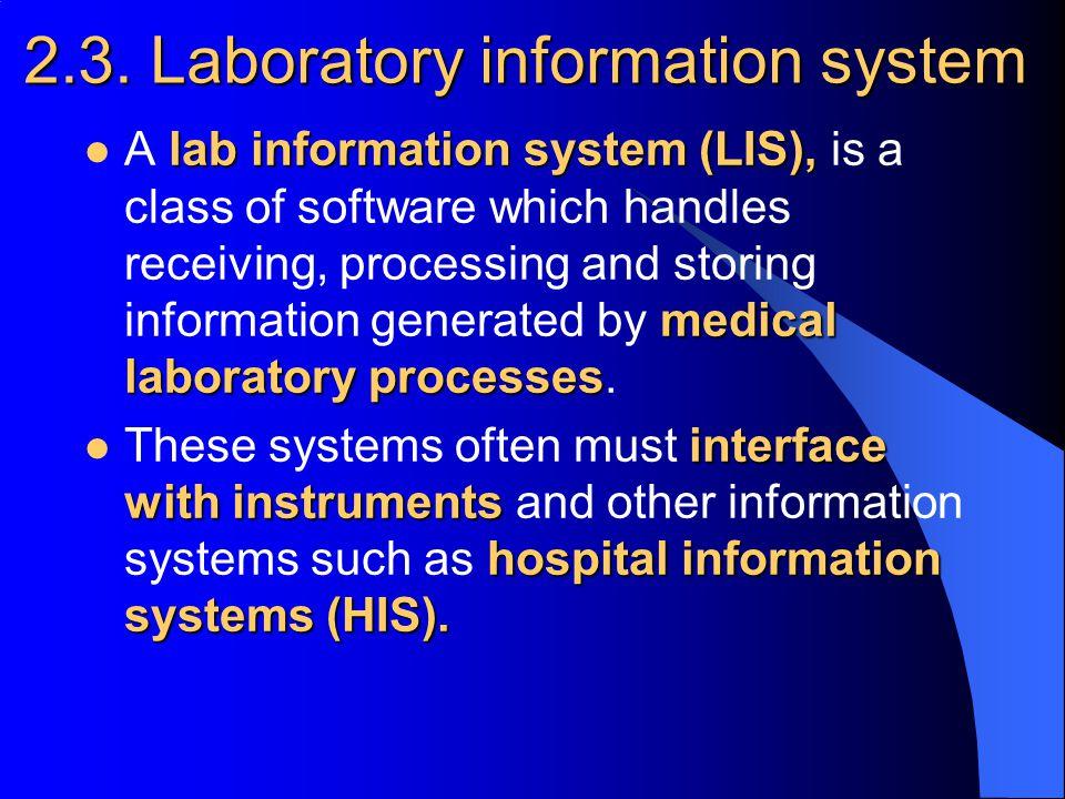 2.3. Laboratory information system