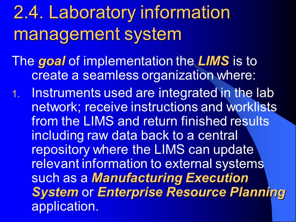 2.4. Laboratory information management system