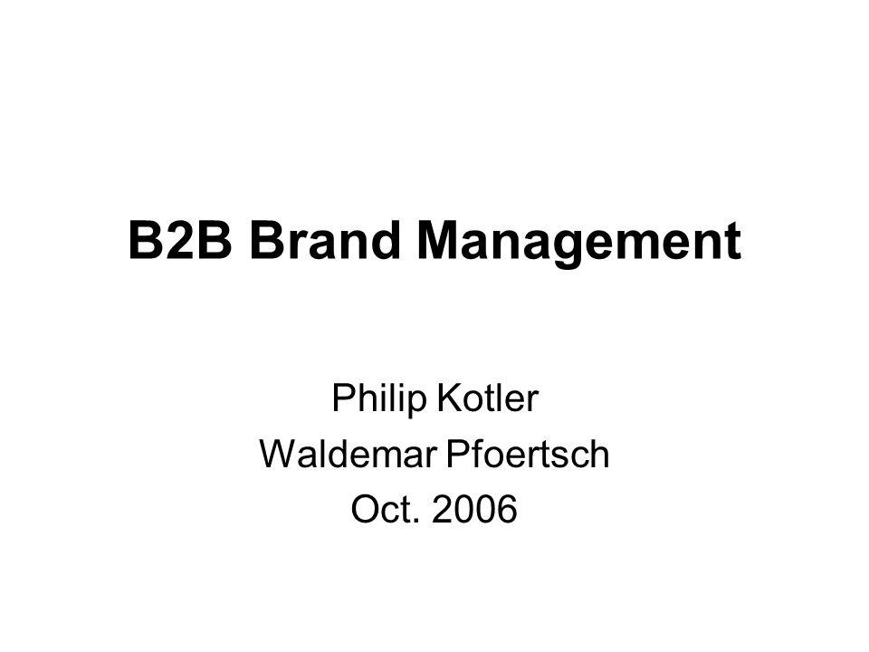 Philip Kotler Waldemar Pfoertsch Oct. 2006