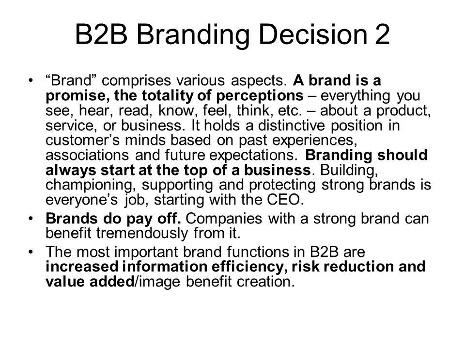 B2B Branding Decision 2
